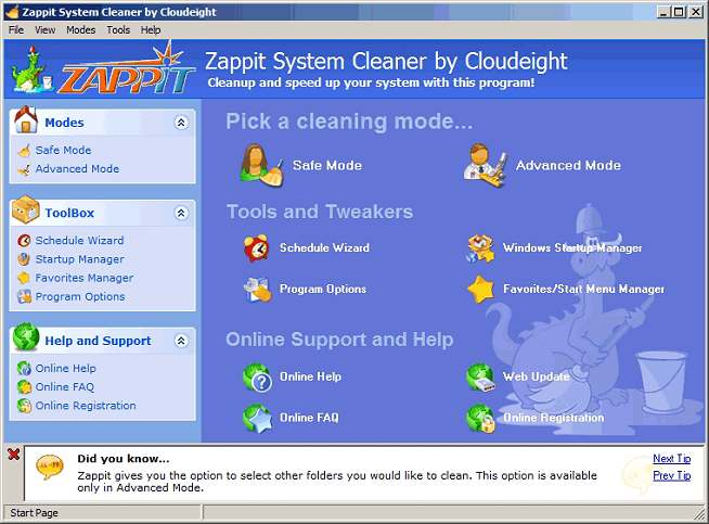 Zappit System Cleaner